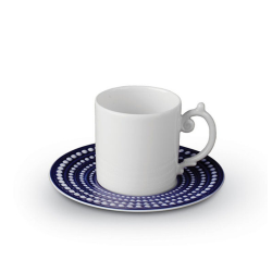 Perlee Espresso cup and saucer, 11cl, Blue