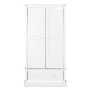 Charterhouse Wardrobe, H182 x W91 x D52cm, silk white