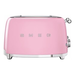 50's Retro 4 slice toaster - 4 slot, pink