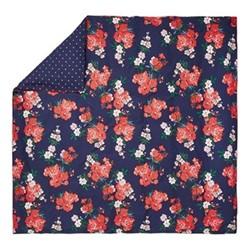Beau Floral Super king size duvet cover, L220 x W260cm, navy