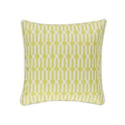 Fresh American - Links Recycled polyester P.E.T. indoor/outdoor cushion, 51 x 51cm, Chartreuse