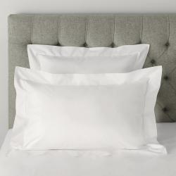 Pimlico - 720 Thread Count Egyptian Cotton Square oxford pillowcase, 65 x 65cm, White