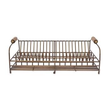 Brompton Dish rack, H17.50 x W46.50 x D30cm, antique brass finish