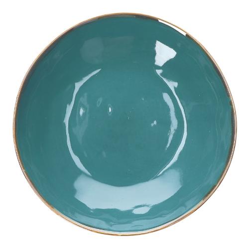 Concerto Set of 4 salad plates, Dia20cm, Teal Blue