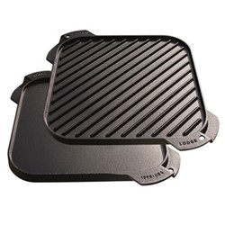 Lodge Square reversible griddle, 27cm, black