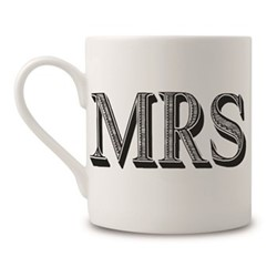 Mrs Mug, H9 x Dia 8cm, black/white