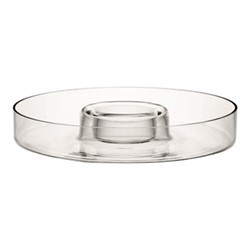 Serve Circle platter, 35cm, clear