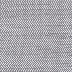 Herringbone Polypropylene indoor/outdoor rug, W76 x L244cm, shale/white