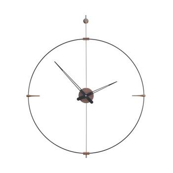 Mini Bilbao Wall hanging clock, D77m, walnut