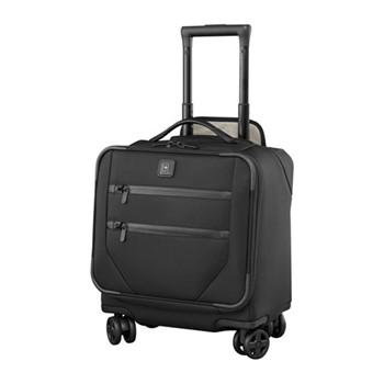 Lexicon 2.0 Dual caster boarding tote bag, H44 x W37 x D24cm, black