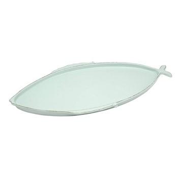 Marina Oval platter, L27cm, aqua