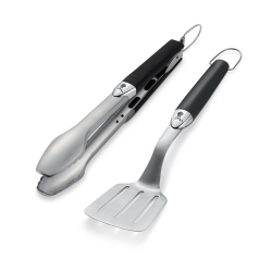 Premium Barbecue tool set, silver and black