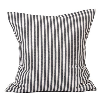 Harbour Stripe Cushion, 60cm, black