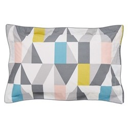 Nuevo Oxford pillowcase, L48 x W74cm, blush and charcoal