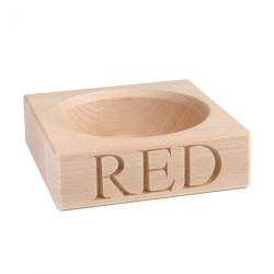 Red Wine bottle holder, 3 x 10.5 x 10.5cm, Beech Wood