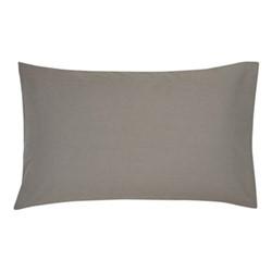 300TC Plain Dye Standard pillowcase, L74 x W48cm, gunmetal grey