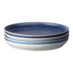 Studio Blue 4 piece coupe dinner plate set, 26 x 3cm, Mixed
