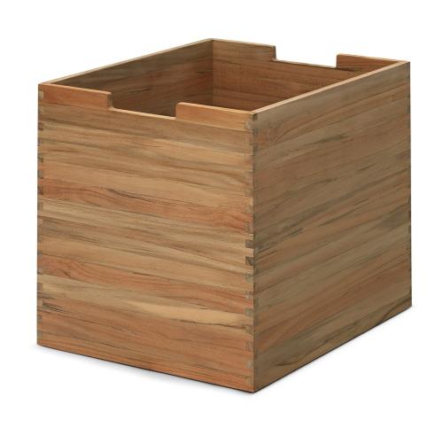 Cutter High box, W30 x D36 x H34cm, Teak