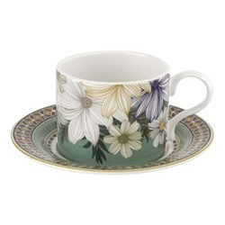 Atrium Tea cup and saucer, green