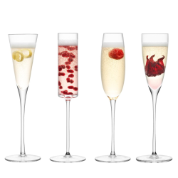 Lulu Set of 4 champagne flutes, clear