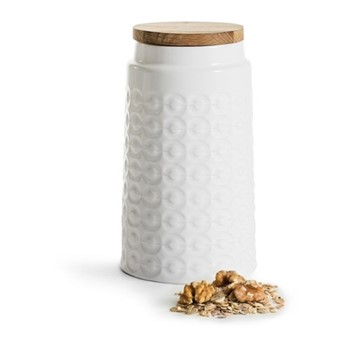 Nature Tall storage jar, H19cm - 1.2 Litre, oak