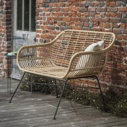 Hampstead Bench, H83 x W126 x D71cm, Bamboo