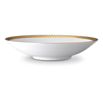 Corde Large coupe bowl, 37cm, gold