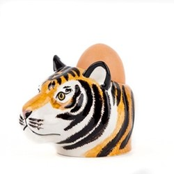 Tiger Face Pair of egg cups, L8.5 x D10 x H7.6cm