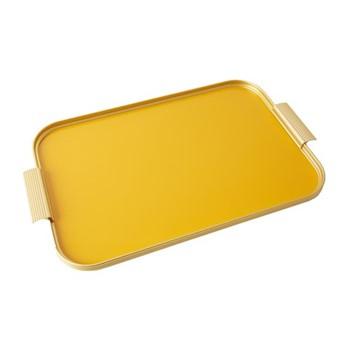 Ribbed serving tray, L46 x W30cm, signal orange