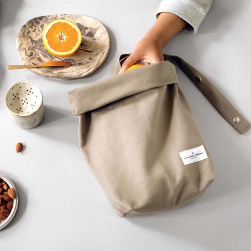 Canvas Lunch bag, 30 x 39cm, Clay