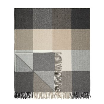 Rome Cashmere blend throw, L183 x W142cm, grey