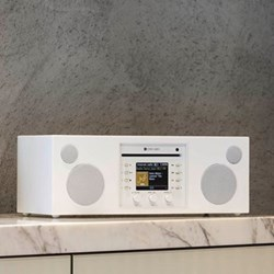 Musica Smart speaker and CD player, L40.5 x W16.6 x H14.3cm, piano white