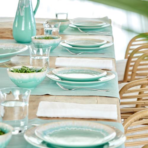 Taormina Set of 6 salad plates, 22cm, Aqua