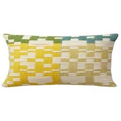 Pennan Oblong cushion, L60 x H31cm, green/yellow