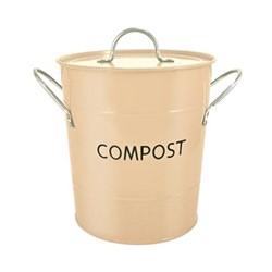 Compost pail, 26 x 20cm, cream