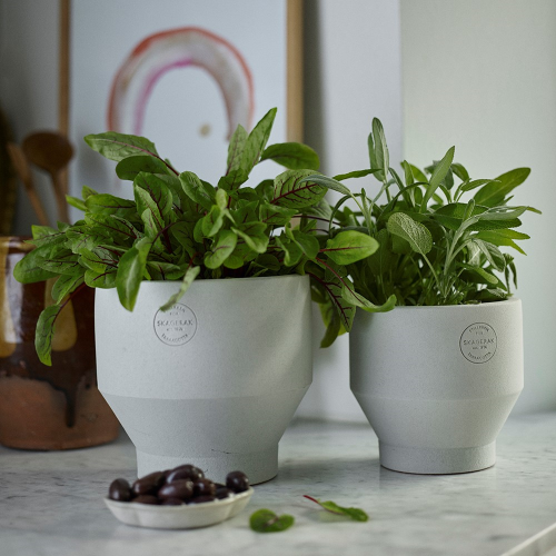 Edge Indoor pot, Dia13 x H13cm, Light Grey