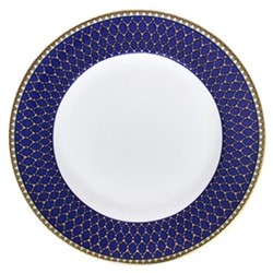 Antler Trellis Plate, 15.4cm, midnight blue and gold