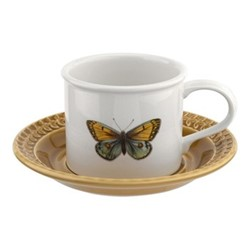 Botanic Garden Harmony Breakfast cup and saucer, amber