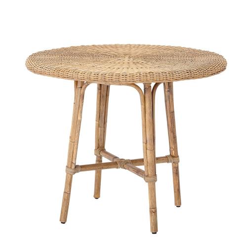 Julietta Dining table, H71 x D80cm, Beige/ Natural