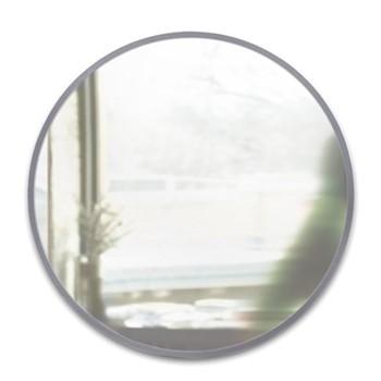 Hub Wall mirror, 94 x 94cm, grey