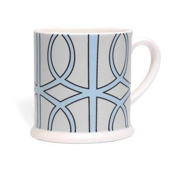 Loop Espresso cup, 6.6 x 6.1cm, pale grey/aqua
