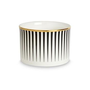 Lustre Sugar bowl, D8 x H5.5cm, black stripe
