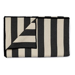 Fastnet Stripe Throw, 240 x 180cm, black