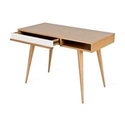 Oak desk with drawer H75 x W110 x D55cm