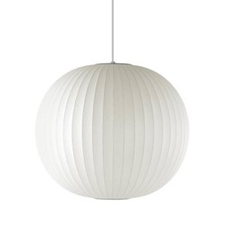 Ball Small pendant lamp, W32 x H30.5cm, white