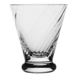 Atlantic Spiral footed tot, 8cm - 70ml, clear