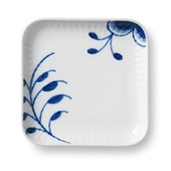 Blue Fluted Mega Square plate, 9cm