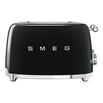50's Retro 4 slice toaster - 4 slot, black
