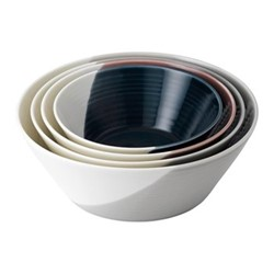 Bowls of Plenty Set of 4 nesting bowls, brown/grey