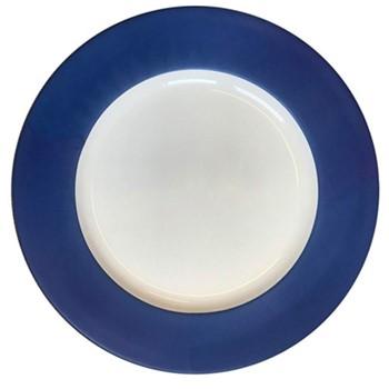 Plain Midnight - Platinum Charger plate, 33cm, midnight blue & platinum
